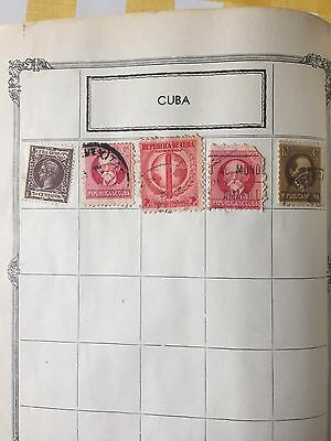 Cuba Cuban Stamps From Old Album