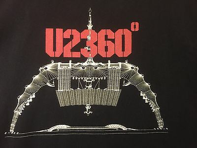 U2 Classic Rock Band 360 The Claw Stage 2011 Worldwide Concert Tour Shirt 2XL