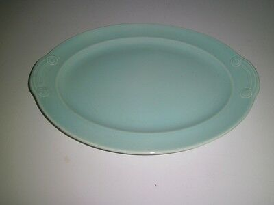 T.S&T LuRay Pastels Pale Green Collectible lrg Oval Platter 1938-1960 Vtg Shabby