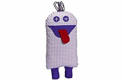 'Stone Pine Monster Funny Purple Chequered approx. 30 x 15 cm, Better Sleep For