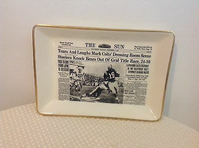 VERY RARE 1958 Baltimore Colts NFL THE SUN DISH