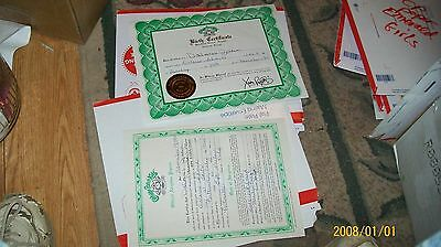 CABBAGE PATCH SOFT SCULPTURE BIRTH CERT/ADOPT PAPER EMERALD  ed 85 GIRL