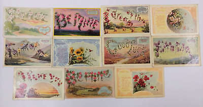 Group of 11 greetings language of flowers antique postcard j67494 group of 11 greetings language of flowers antique postcard j67494 m4hsunfo