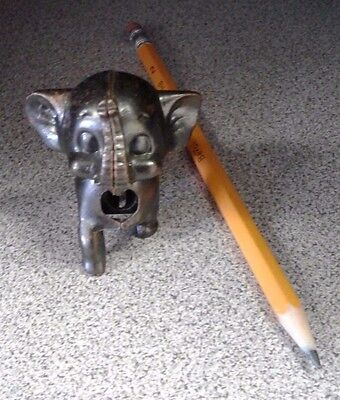 Vintage Die-Cast Elephant Pencil Sharpener