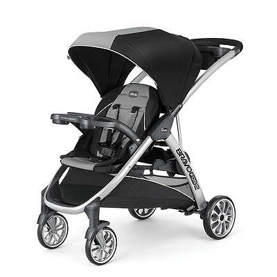 Chicco BravoFor2 Two Passenger Stroller  in Zinc Brand New!! Free Shipping!!
