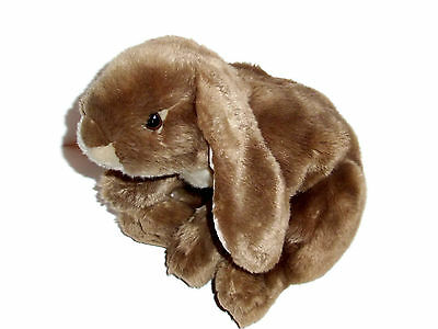 """13"""" Animal Alley Tan White Life Like Bunny Plush Stuffed Animal Easter Weighted"""
