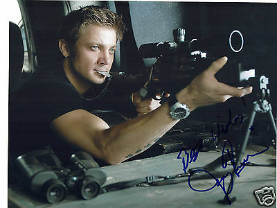 Jeremy Renner American Actor  Hand  Signed Photograph 10 x 8