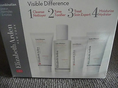 Elizabeth Arden Visible Difference 4 Item Gift Set  New In Box See Listing