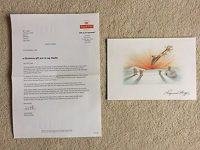 Royal Mail Limited Edition Print Raymond Briggs Father Christmas