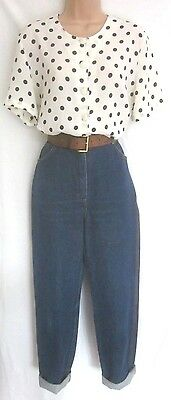 "Vintage High Waisted Tapered Denim Mom Jeans 10 12 29"" Waist Blogger"