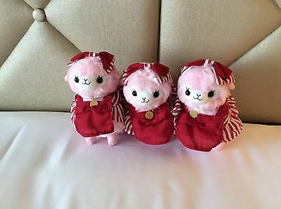 Limited Edition Amuse Alpacasso Arpakasso Alpaca Plush 16cm Red Ginger Maid