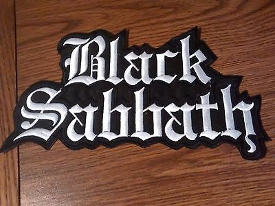 Black Sabbath,sew On White Embroidered Large Back Patch