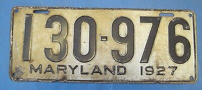 1927 Maryland License Plate