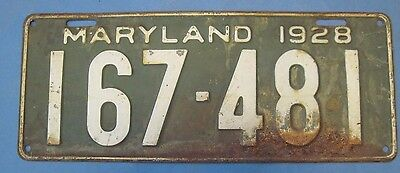 1928 Maryland License Plate