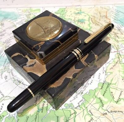 Mont Blanc Meisterstuck 144 Black Fountain Pen-Free Uk Post!