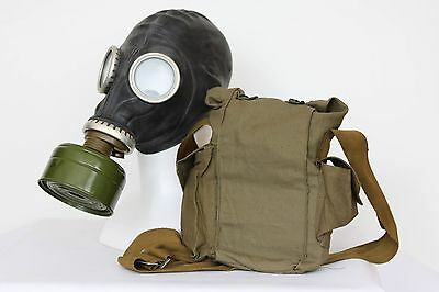 Gas MASK GP-5M SOVIET WW2 BLACK with FILTER + BAG exotic decoration ALL SIZES