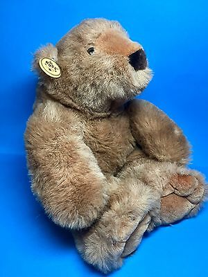 """Vintage Rare Russ Berrie Brown FOREST BEAR Made In Korea 15"""" EUC"""