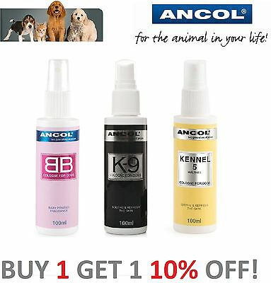 Ancol Dog Puppy Cologne, Perfume, Deodorant Spray,  100ml - Finishing Spray
