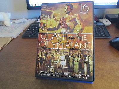 CLASH of the OLYMPIANS 16 Movies 23+ Hours SPARTACUS GOLIATH HERCULES GLADIATORS