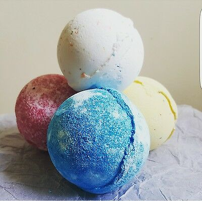 4 x Lush Fragranced Shea Butter Bath Bombs. Soft Skin&relaxing.Dessert Fragrance