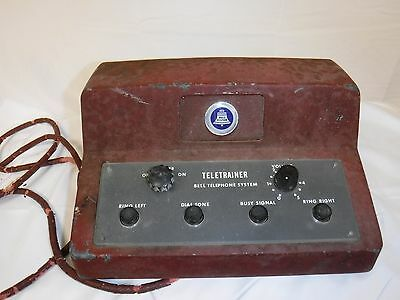 Vintage Western Electric Bell Systems Teletrainer Red