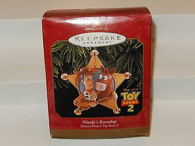 "Toy Story 2 ""woody's Roundup"" Hallmark Keepsake Ornament - Disney - Dated 1999"
