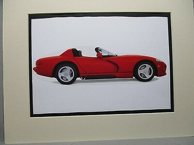 1992 Dodge Viper RT10   artist art Auto Museum Full color  Illustrated