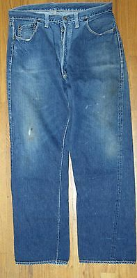 Levi's 501Xx 34 X 30.5 Big E Redline 1950's Hidden Rivets Vintage Denim Jeans !!