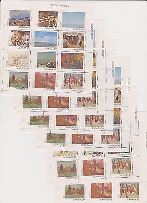Stamps Canada Day 1982 966a 6 Panes of 12 x 30 cents MNH