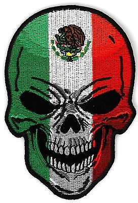 Medium Patch, Mexican Flag Skull Patch, Skull Patches, Biker Patches