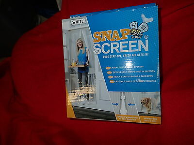 JLM WHITE  Snap Screen Magnetised Mesh Door Curtain: Bugs Out, Fresh Air In