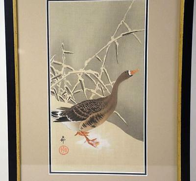 JAPANESE WOODBLOCK PRINT BY OHARA SHOSON, framed, signed and sealed ... Lot 1165