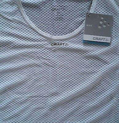 NEW Craft Mens Cool Mesh Superlight Tee XXL White Base Layer 1 T-Shirt Ventilate