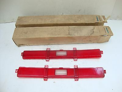 NOS GM 1974 1975 1976 Chevrolet Impala Tail Light Lamp Lenses 5951649 & 5951650