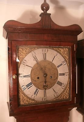 "Antique Mahogany  "" Holywell""  Brass Dial   Longcase / Grandfather Clock"
