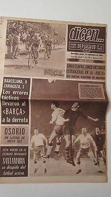 Final Fairs cup original  Barcelona v Real Zaragoza 1966