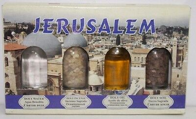 Christian Blessed Holy water Jordan river set , Holy soil in a box,olive oil