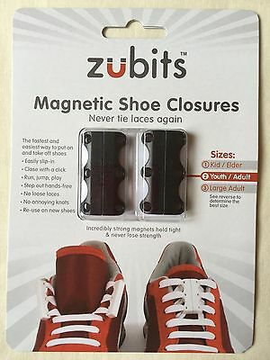 ZUBITS Magnetic Shoe Closures Black #2 + NEW LACE ANCHORS 30% OFF AMAZON Price