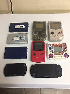 Huge Lot Of Handheld Consoles Psp Game boy Color Nintendo Ds (Handy Man Special)
