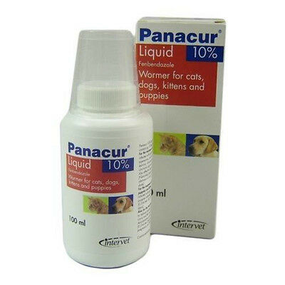 MSD  Panacur (oral suspension) 10% concentration (most animals) 100ml