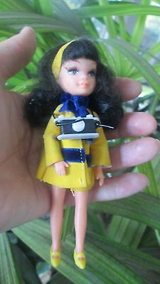 Vintage Super Rare Uneeda Tiny Teens Doll Vacation Time Camera Yellow 1967 Suit