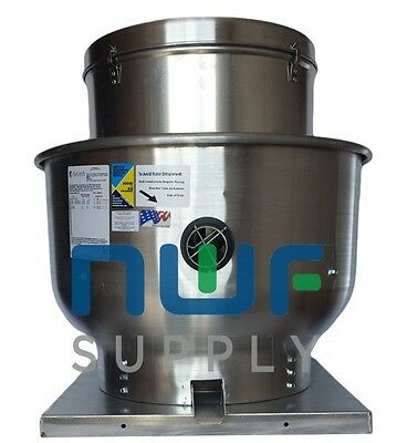 Restaurant Upblast Commercial Hood Exhaust Fan 30x30 Base 1 HP 3986 CFM 3 PH