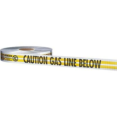 "38-027 Empire 2""X1000' Yellow Prem ""Caution Gas Line Below"" Pack of 6"