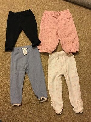 4 Pairs Of Trousers 9-12 Months. Next And TU