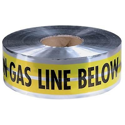"""31-143 Empire 6""""X1000' Yellow Prem """"Caution Gas Line Below"""" Pack of 2"""