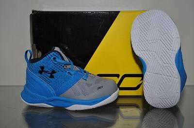 new product d95d9 d7f74 UNDER ARMOUR CURRY Two Infant Baby Basketball Shoes 1286153 035 Gray/Blue  NIB
