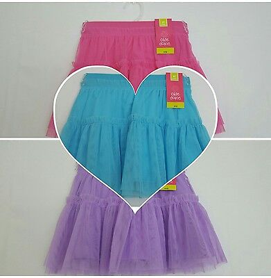 Okie Dokie Toddler Girl's Tutu Skirt Pink Blue Purple Cute NWT 2T 3T 4T 5T