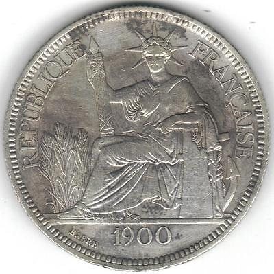 TMM* 1900-A French Indo China Silver Piastre Fine