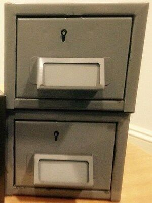 Library catalogue card drawers - metal - great for storage