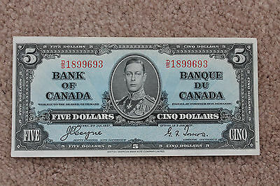 1937 Bank of Canada $5 Note, Coyne Towers D/S 1899693